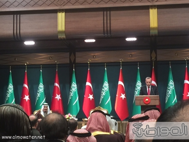 الرئيس التركي يستقبل الملك (1) 