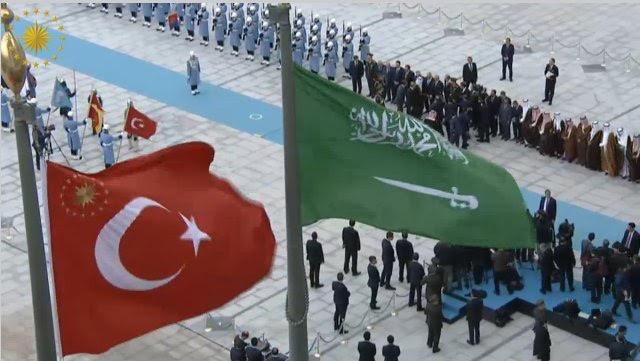 الرئيس التركي يستقبل الملك3