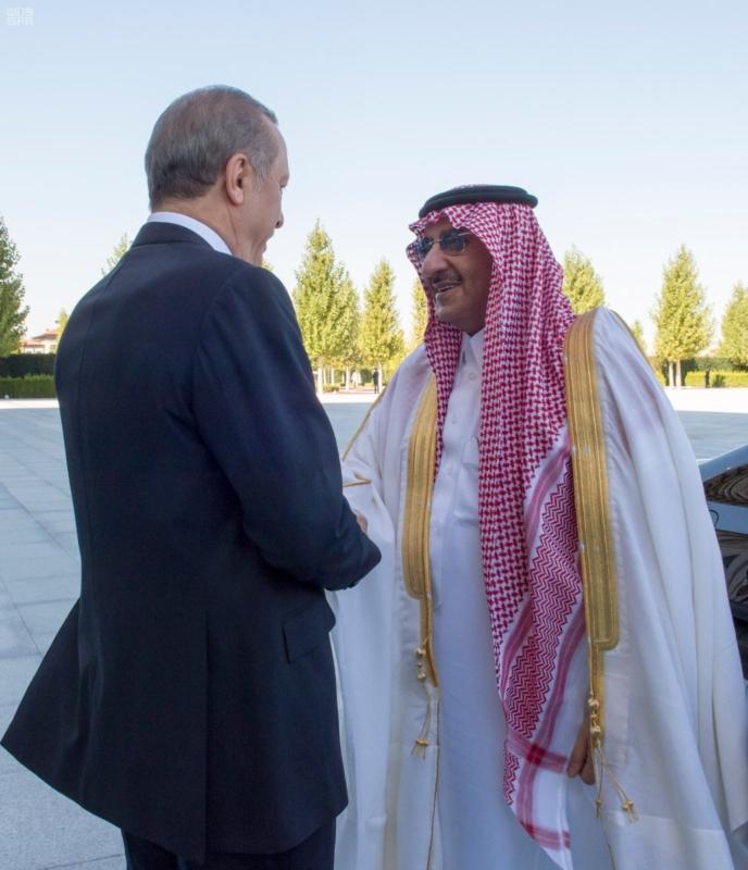 الرئيس التركي يستقبل ولي العهد