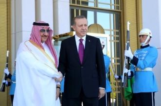 الرئيس التركي يستقبل ولي العهد ويعقد معه اجتماعا في القصر الرئاسي بأنقرة - المواطن