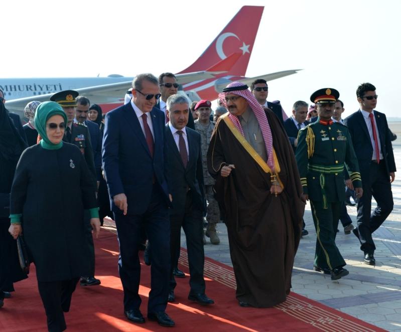 الرئيس التركي يصل إلى الرياض