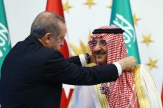 الرئيس التركي يمنح ولي العهد وسام الجمهورية