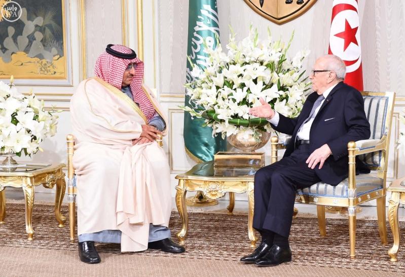 الرئيس التونسي يستقبل سمو ولي العهد 1