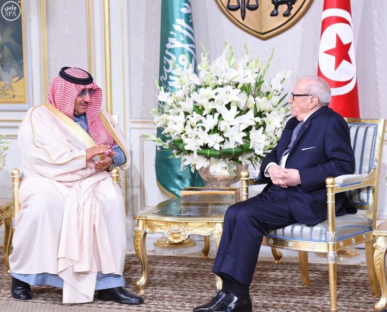 الرئيس التونسي يستقبل سمو ولي العهد 2