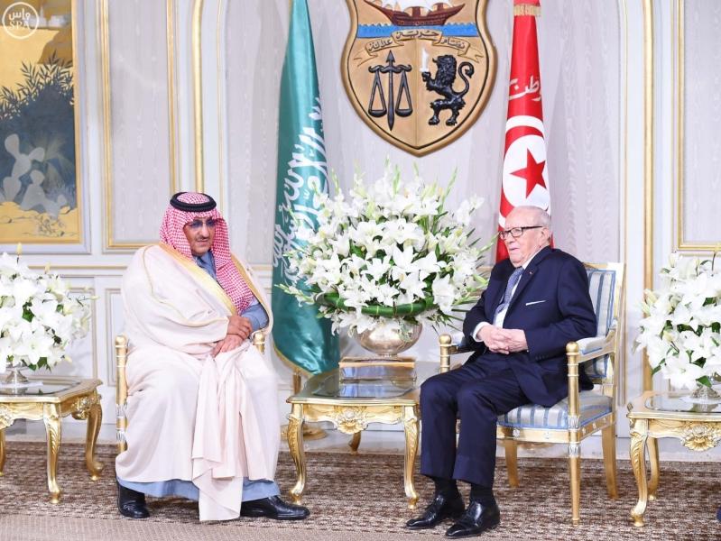 الرئيس التونسي يستقبل سمو ولي العهد 4