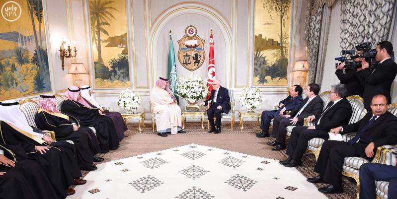 الرئيس التونسي يستقبل سمو ولي العهد 5