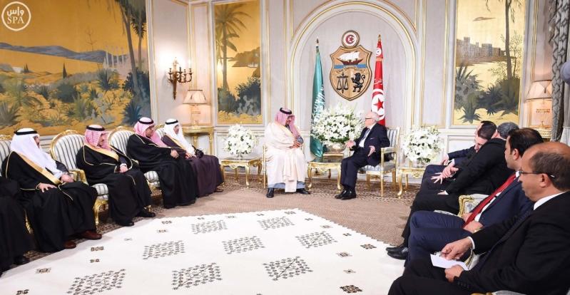 الرئيس التونسي يستقبل سمو ولي العهد 7