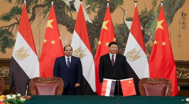 الرئيس الصيني والرئيس المصري