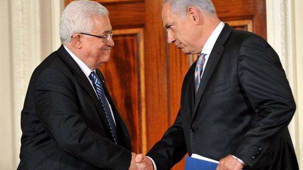 الرئيس الفلسطيني محمود عباس ونتنياهو