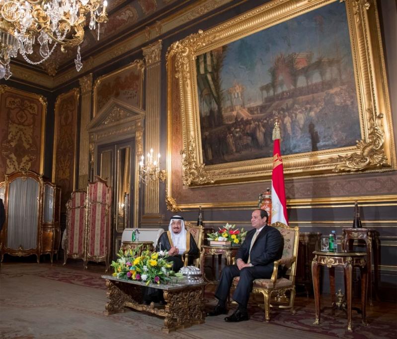 الرئيس المصري يقيم حفل عشاء لخادم الحرمين الشريفين2