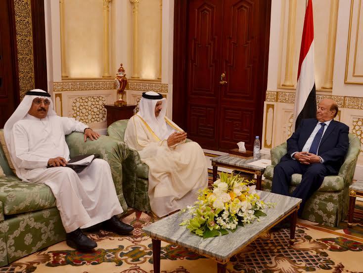 الزياني يُطلع الرئيس اليمني على آخر تطورات دعم مسار السلام