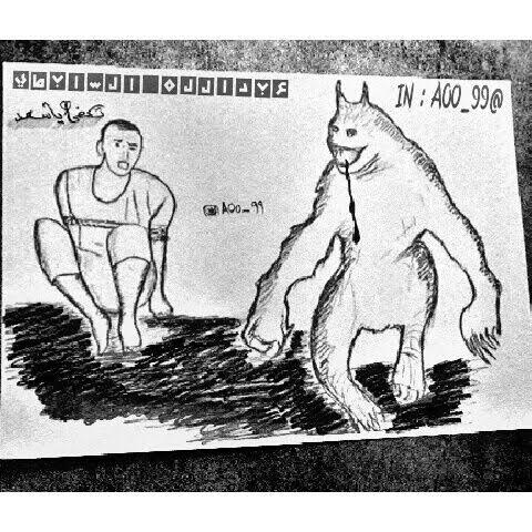 في صورة معبرة.. رسام شاب يوثق حادثة #داعشي_يقتل_ابن_عمه - المواطن