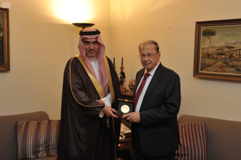 السبهان يلتقي قيادات لبنان (1)