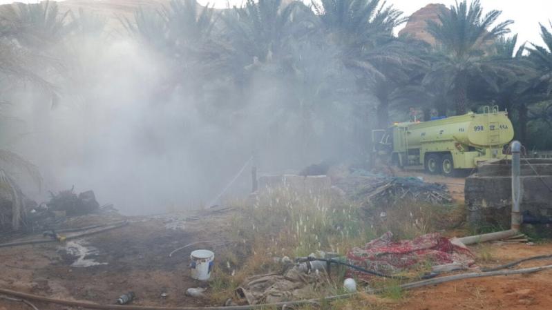 السيطرة على حريق مزرعتين بالعلا  (31195652) 