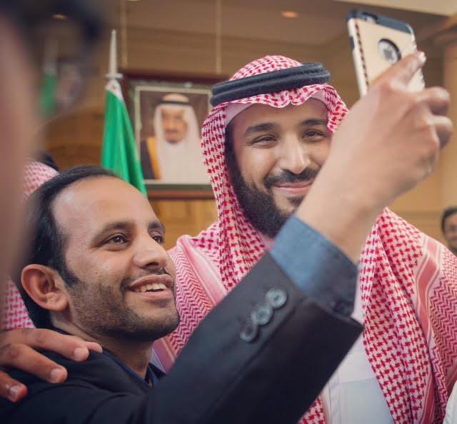 السيلفي حاضر في لقاء محمد بن سلمان (1)