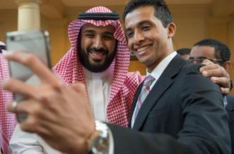شاهد .. #سيلفي #محمد_بن_سلمان مع مبتعثي أمريكا .. غير - المواطن