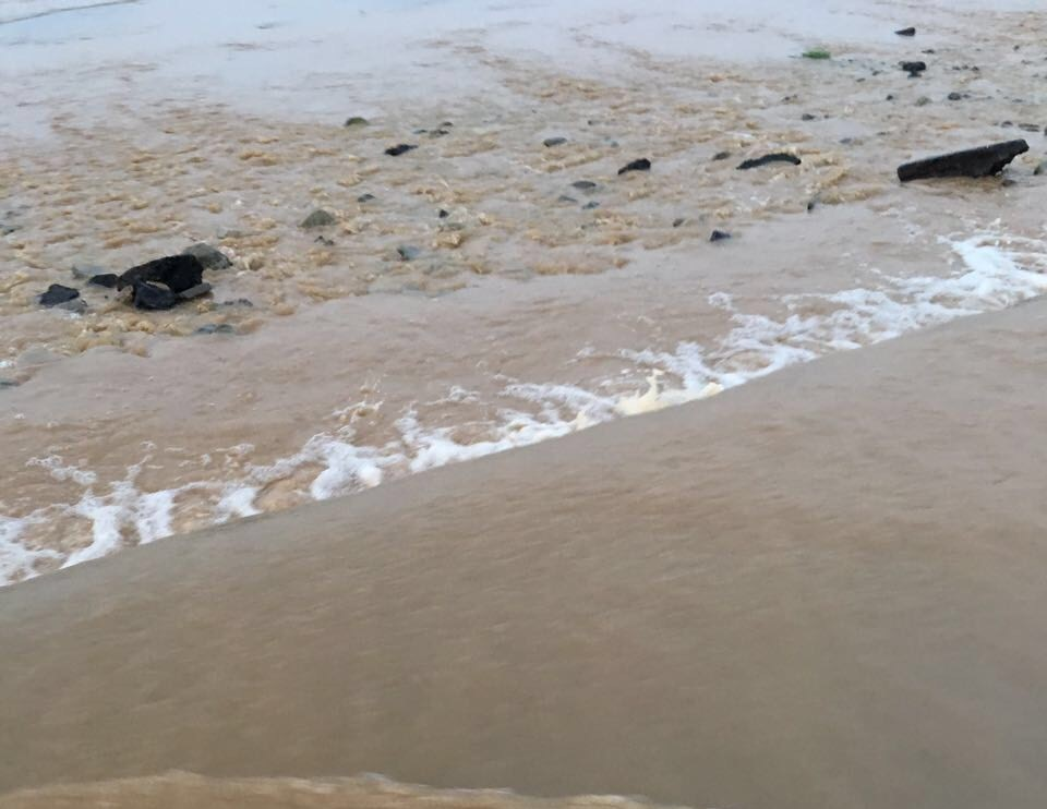 السيول المنقولة تحاصر القرى وتجرف الشاحنات بطريق صبيا - العدايا (5)