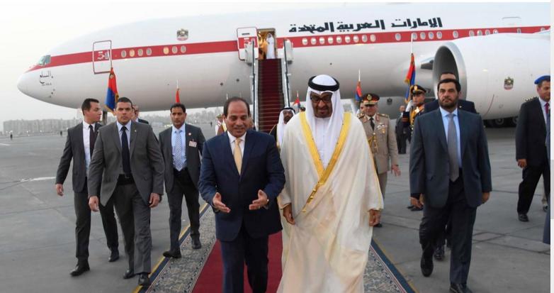 الشيخ محمد بن زايد والرئيس المصري