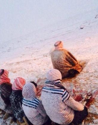 الصلاه ع الثلج