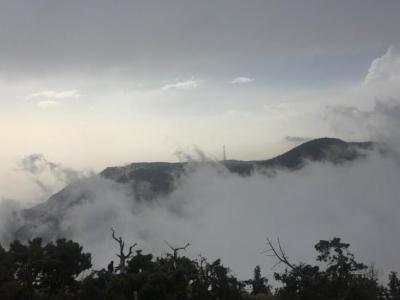 الضباب يعانق جبال منتزه السوده