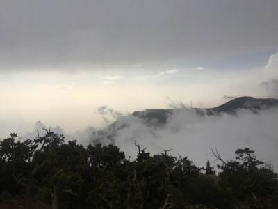 الضباب يعانق جبال منتزه السوده1