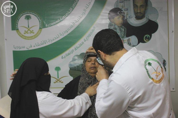 العيادات التخصصية السعودية في مخيم الزعتري