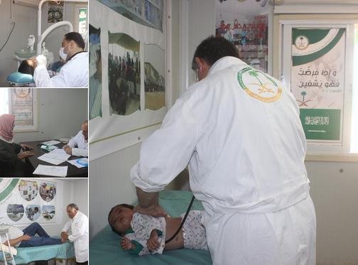 العيادات التخصصية تعالج 992 من الأشقاء السوريين بمخيم الزعتري