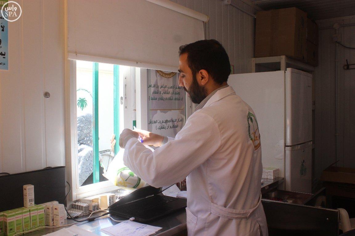 العيادات السعودية تقدم 1627 وصفة طبية للاجئين السوريين (1)
