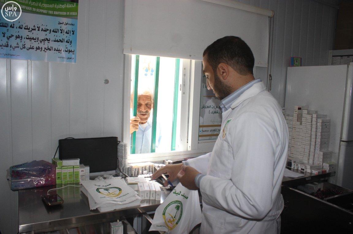 العيادات السعودية تقدم 1627 وصفة طبية للاجئين السوريين (4)