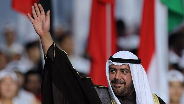 GUANGZHOU, CHINA - NOVEMBER 27:  Sheik Ahmad Al Fahad Al Sabah of Kuwait, president of the Olympic Council of Asia, waves to the crowd during the Closing Ceremony at Haixinsha Square on day fifteen of the 16th Asian Games Guangzhou 2010 on November 27, 2010 in Guangzhou, China.  (Photo by Ronald Martinez/Getty Images)
