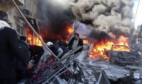 القصف الجوي الروسي في سوريا
