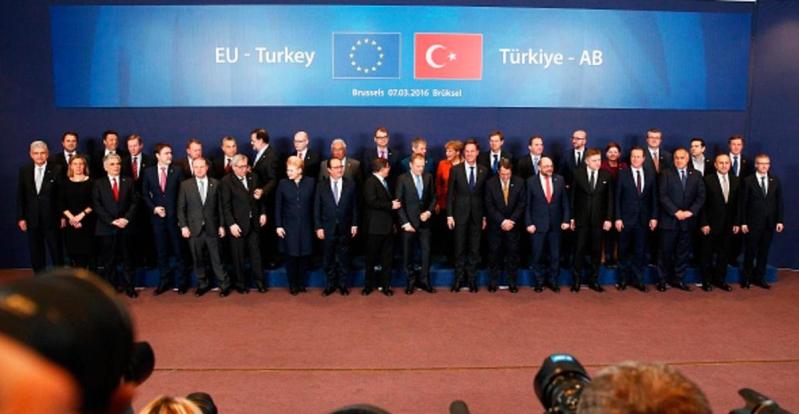 القمة الاوربية التركية في بروكسل