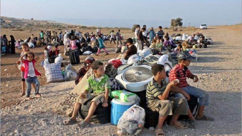 اللاجئين-السوريين-الحدود-الاردنية حرب سوريا