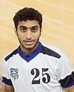 اللاعب مشاري الصاعدي لاعب نادي القوس
