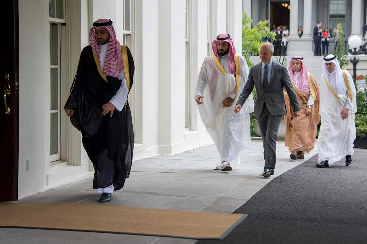اللقطات الأولى لوصول ولي ولي العهد للقاء أوباما في البيت الأبيض (209482806) 