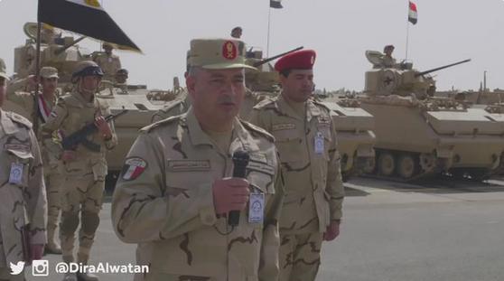 اللواء اركان حرب فكري إمام قائد القوة المصرية المشاركة بتمرين رعد الشمال