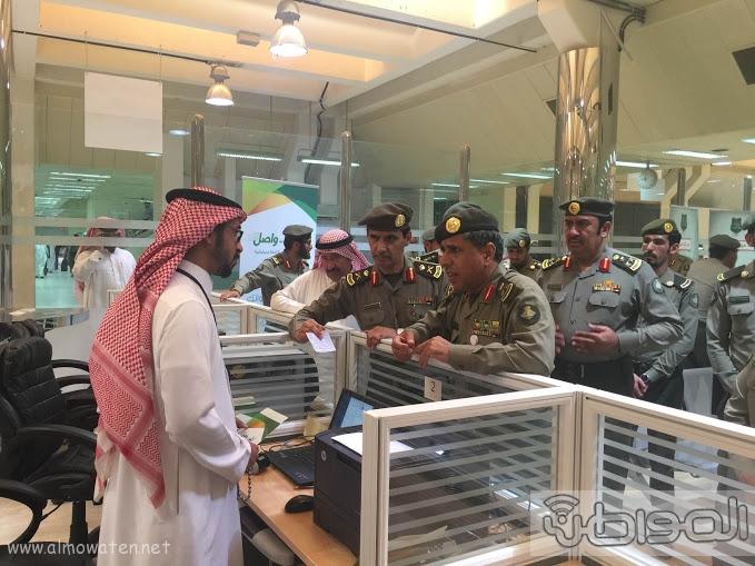 اللواء اليحيى يدشن صالة ذوي الاحتياجات الخاصة بجوازات الرياض (1)