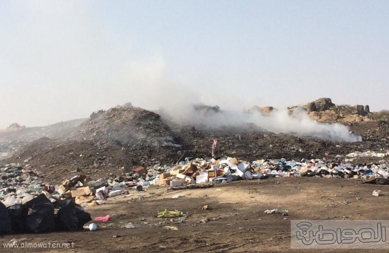 المجاردة حرق النفايات بجوار المساكن (1)