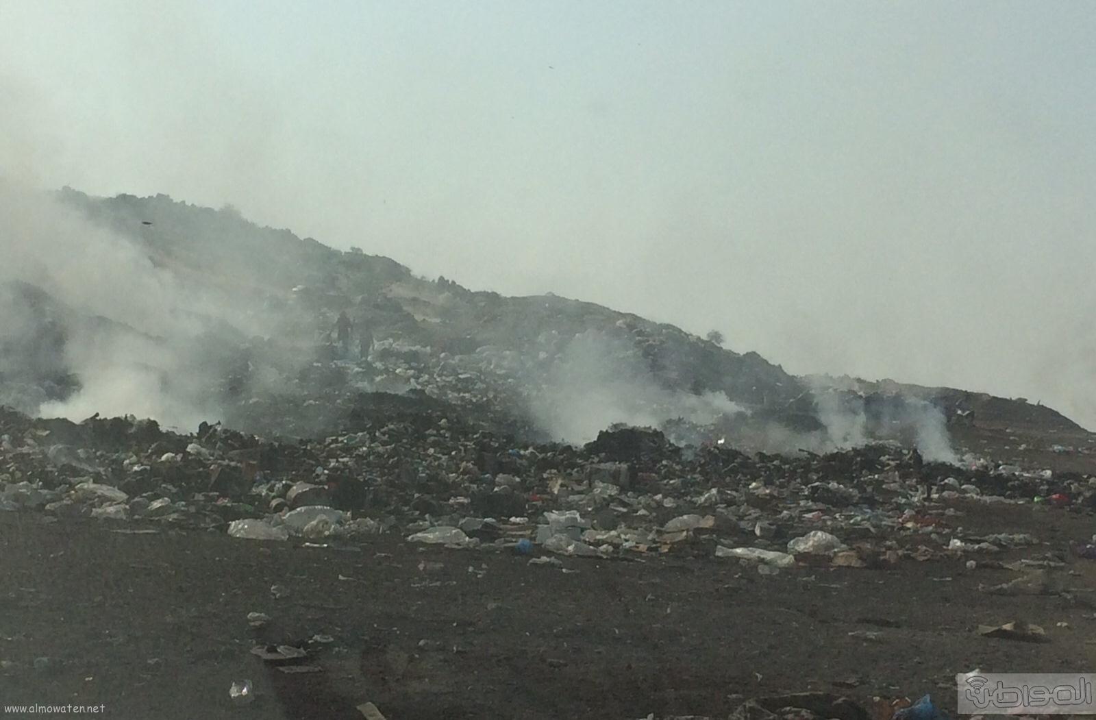 المجاردة حرق النفايات بجوار المساكن (2)