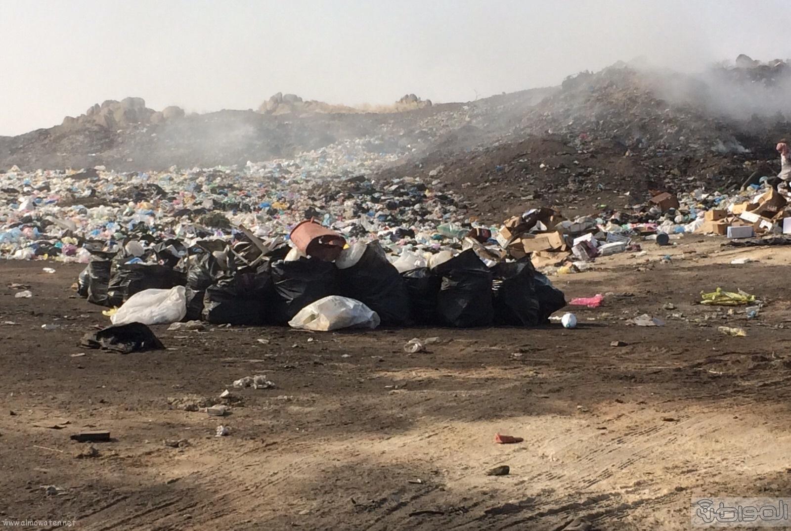المجاردة حرق النفايات بجوار المساكن (3)