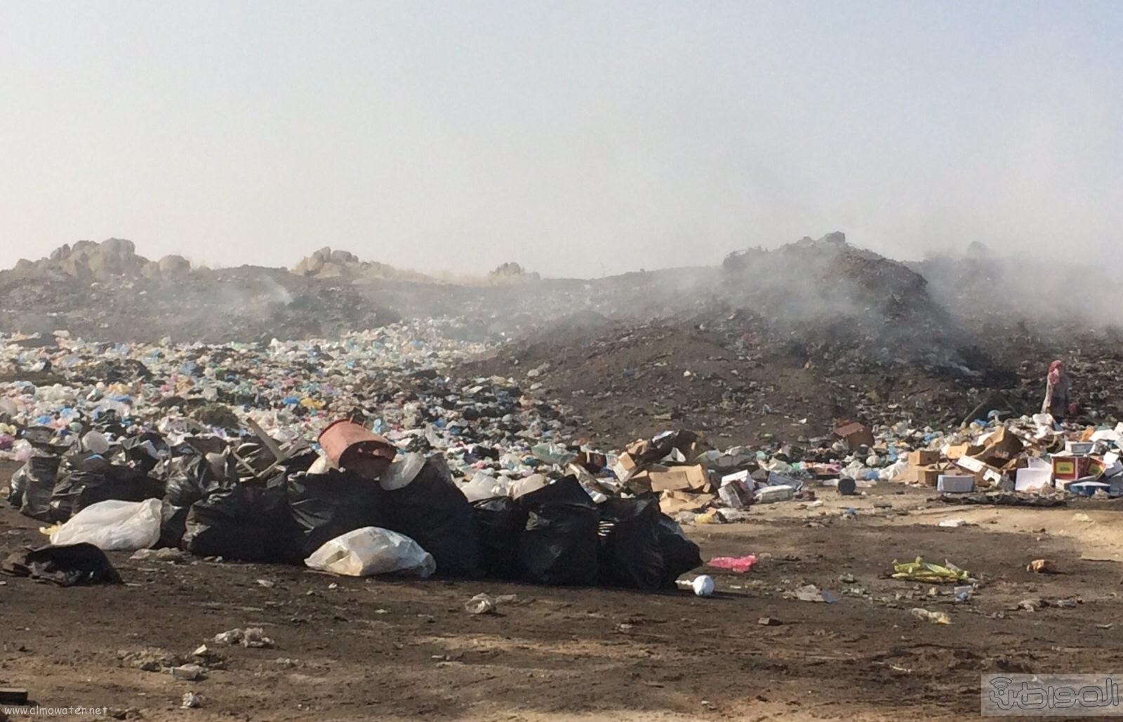 المجاردة حرق النفايات بجوار المساكن (4)
