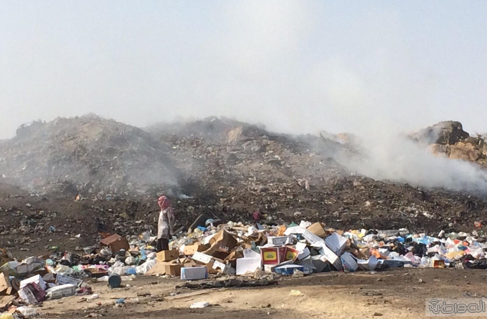 المجاردة حرق النفايات بجوار المساكن (5)