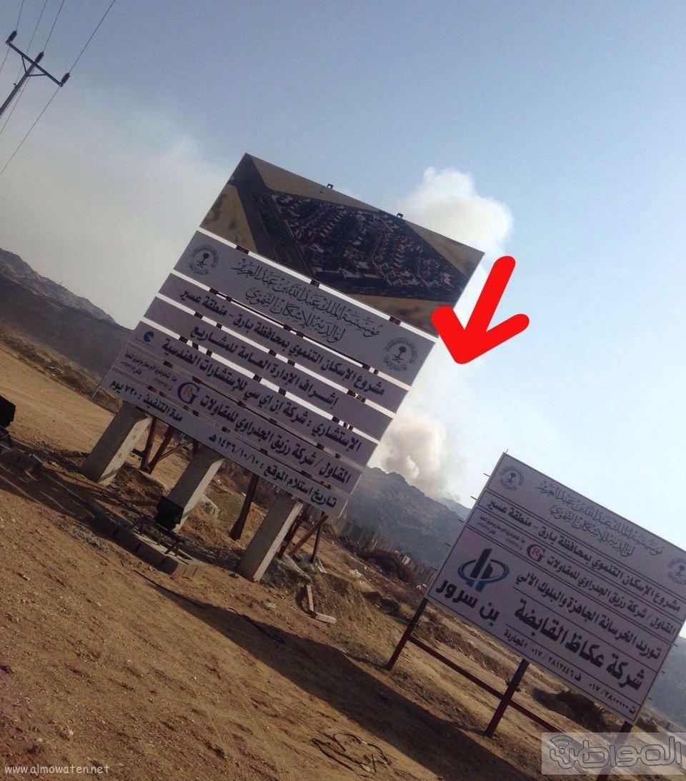 المجاردة حرق النفايات بجوار المساكن (7)