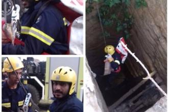"""بالصور.. المدني يُنقذ """"قطة"""" وينفذ فرضية إخلاء وأخرى للحريق - المواطن"""