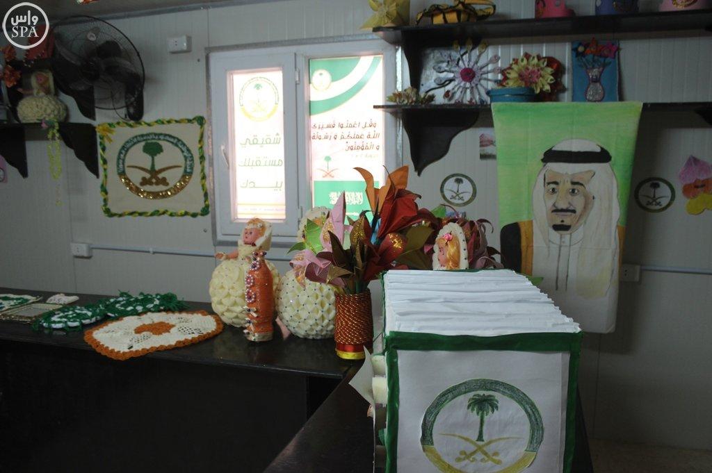 المركز السعودي يقدم خدماته التعليمية والتدريبية للاجئين السوريين في مخيم الزعتري (2)