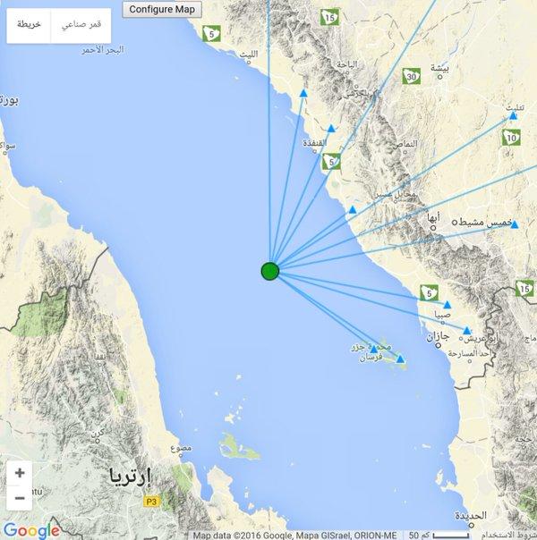 المساحة ترصد هزتان بالبحر الاحمر