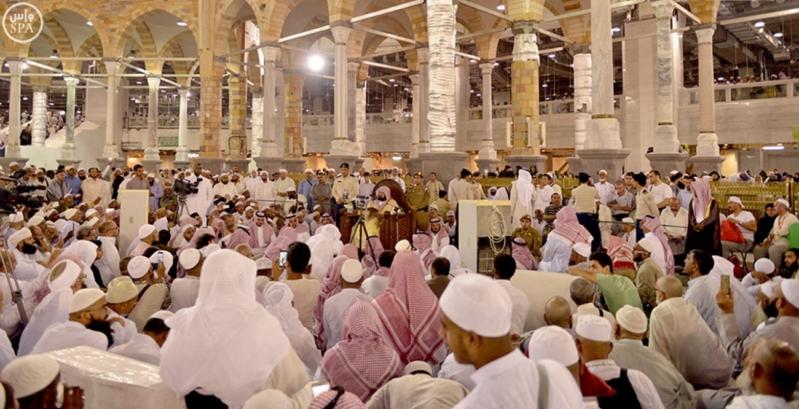 الشيخ السديس يلقي درسًا عن شعيرة الحج بالمسجد الحرام
