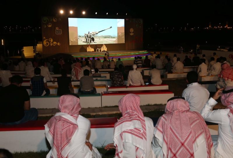 المسرح أثناء فقرة حكايا مرابطين