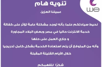 مشكلة تؤثر على سرعة الإنترنت في مصر وحلها في هذا الموعد - المواطن