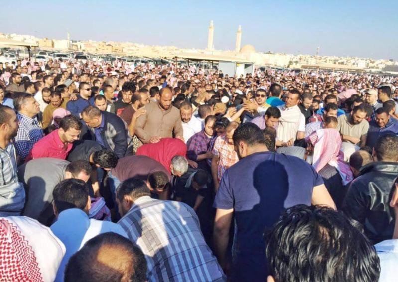 المصريون الذين شاركو السعوديين بحادث جنازة القصيم
